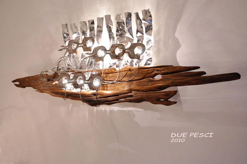 Plafoniere Da Parete In Legno : Coppia di plafoniere lampade da parete applique in legno e vetro