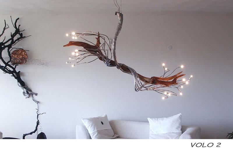 LUCI ARTISTICHE, LAMPADE IN LEGNO, NATURALE E DI DESIGN
