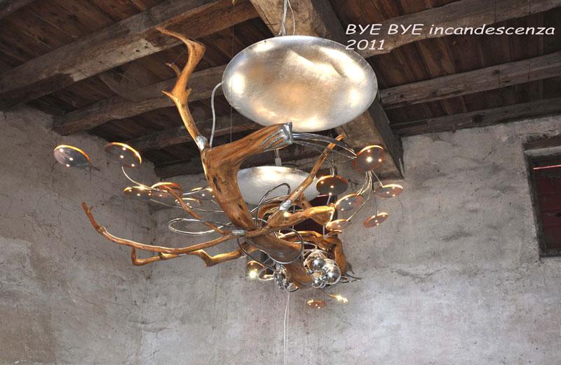luci artistiche lampade in legno naturale e di design