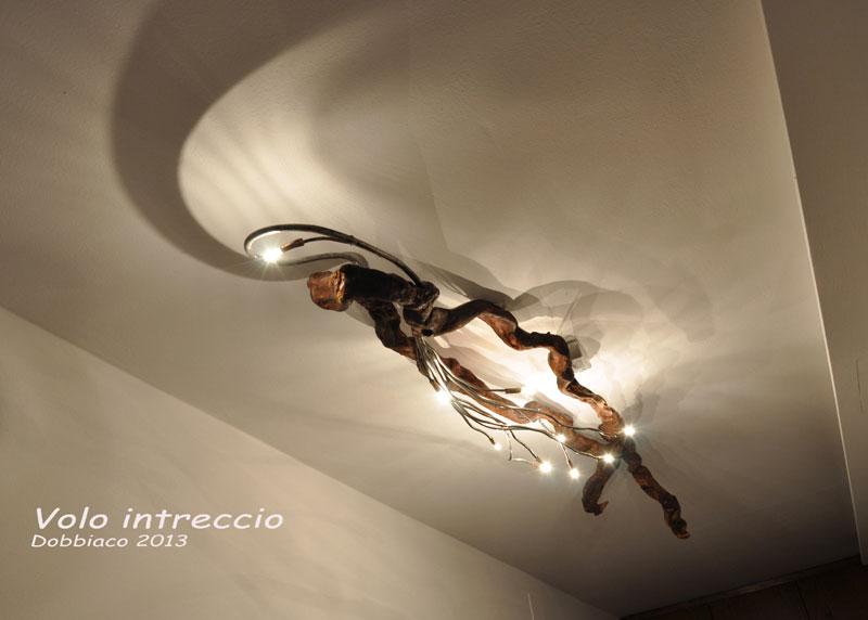 lampada in legno originale