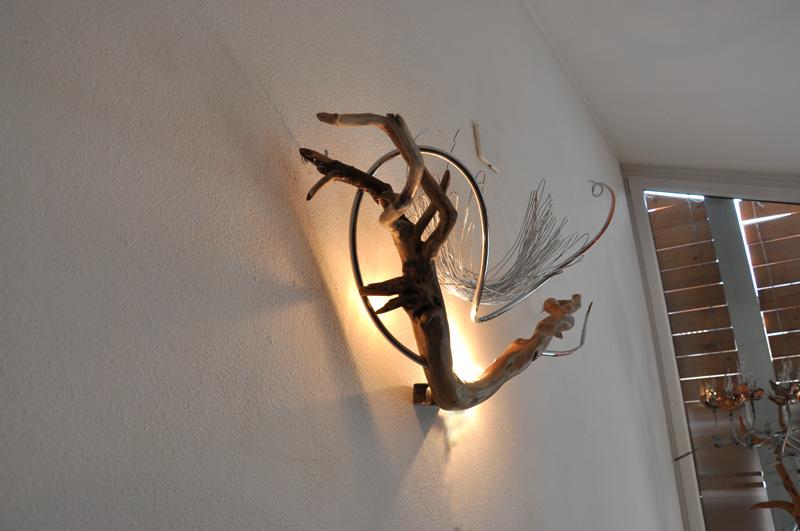 Lampade In Legno Di Mare : Atocaio sculture luminose lampade di design uniche complementi