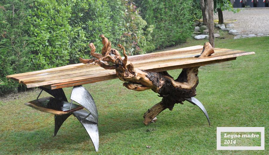 LEGNO MADRE,tavolo in legno grezzo,DESIGN atocaio